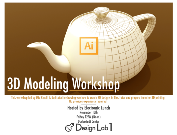 3D Modeling for Printing Workshop - 15th November